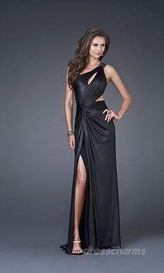 black silk  Long Dress