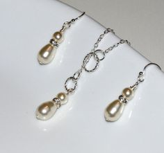 ETSY SALE Lariat Pearl and Rhinestone Necklace / by JDSWeddings, $40.00