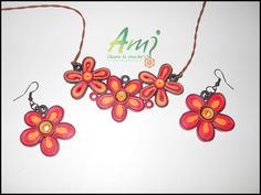 Red flowers set