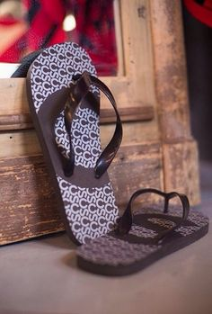 Vacationing after #Stampede2014? Bring urban-western style with you with these CS branded flip flops.