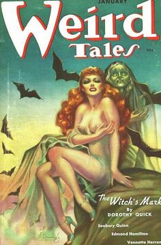 Tellers of Weird Tales: Witches, Wizards, and Warlocks on the Cover of Weird Tales Art Pulp Fiction, Science Fiction, Horror Fiction, Pulp Art, Fiction Books, Pulp Magazine, Magazine Art, Magazine Covers, Horror Comics