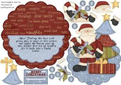 Over the edge rocker Christmas and Tree decoupage card on Craftsuprint - Now available for download!