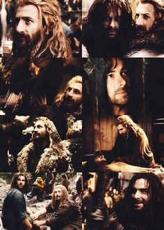 The top right pic- Kili looks like Thorin just stabbed him in the back, he is so rejected looking.