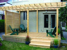The pergola kits are the easiest and quickest way to build a garden pergola. There are lots of do it yourself pergola kits available to you so that anyone could easily put them together to construct a new structure at their backyard. Pergola Attached To House, Deck With Pergola, Outdoor Pergola, Diy Pergola, Pergola Ideas, Modern Pergola, Covered Pergola, Covered Porches, Pergola Lighting