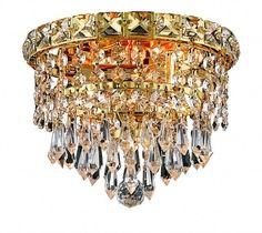 Nice Small Gold Chandelier
