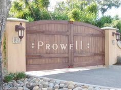 wooden privacy drive gate | PRIVACY DRIVEWAY GATES #6