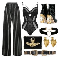 B O S S by yungkiko on Polyvore featuring polyvore, moda, style, Balenciaga, Dolce&Gabbana, Miss Selfridge, StrangeFruit, B-Low the Belt, fashion and clothing