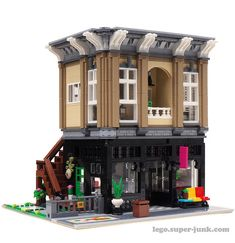 Antique Store and studio apartment | Lego Modular Building M… | Flickr - Photo Sharing!