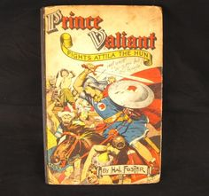 Prince Valiant Fights Attila the Hun 1952 Hardcover Book Harold Foster