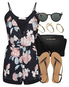 """""""Style #10105"""" by vany-alvarado ❤ liked on Polyvore featuring Oh My Love, Michael Kors, Ray-Ban, ASOS and DesignSix"""