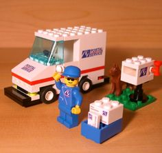 Fun Custom Postal Vehicle Set for Town City Train Lego Mail Service Truck Gift…
