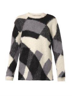 Patchwork-knit mohair-blend sweater | McQ Alexander McQueen | ...