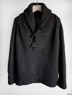 Cloak - FW04 Handknit Shawl Toggle Sweater — E-G