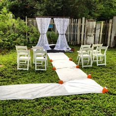 images of small backyard weddings | Beautiful Yard Shower/Party or ...
