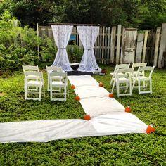 Cheap Backyard Wedding Ideas backyard ideas cheap backyard wedding ideas Wedding Mini Wedding Small Wedding Backyard Wedding Fall Wedding