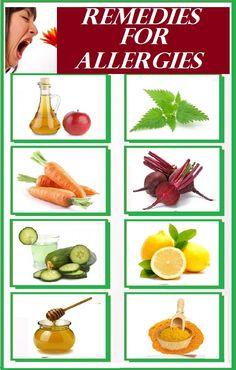 Natural Remedies For Allergies Home Remedies for Allergies Home Remedies For Allergies, Allergy Remedies, Homeopathic Remedies, Home Medicine, Natural Medicine, Natural Health Remedies, Natural Cures, Health Heal, Seasonal Allergies