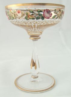 Moser champagne glass