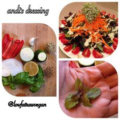 """""""My Creamy Herb Dressing that I created for my lovely friend Andi  @rawvibration  Creamy Herb Dressing (nut free) 3 Tbs #hempseeds 1/2…"""""""