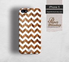 iPhone 5 case, iPhone 4S case, Decoupage case for iPhone.Geometric aztec white chevron on wood pattern. via Etsy
