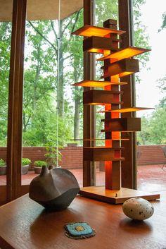 Frank Lloyd Wright modern living room by Adrienne DeRosa