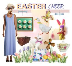 Easter Cheer by seasidecollectibles on Polyvore featuring interior, interiors, interior design, home, home decor, interior decorating, Harrods, Joan Vass, Express and EtsySpecialT