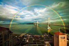 puente del arco iris-sobre wallpaper