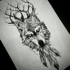 """Image search results for """"wolf drawing tattoo"""" – Sarah Sc … - diy tattoo images Wolf Tattoos, Animal Tattoos, Body Art Tattoos, Sleeve Tattoos, Celtic Tattoos, Feather Tattoos, Tatoos, Eagle Tattoos, Wolf Tattoo Design"""