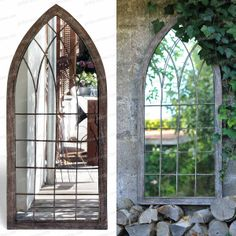Miroir fenêtre de jardin 109cm - Mobilier de Jardin