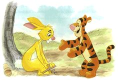 Rabbit gives his spring shoes to Tigger