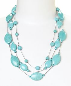 Look at this Turquoise Floating Layer Bead Necklace on #zulily today!