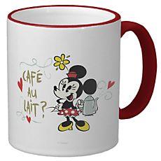 Mickey Mouse Croissant de Triomphe Ringer Mug - Customizable