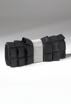 Handbags - Multi Layer Pleated Handbag with Rhinestone Band from Camille La Vie and Group USA