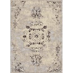 nuLOOM Oriental Vintage Viscose Ashton Ivory Rug (5' x 8') | Overstock.com Shopping - Great Deals on Nuloom 5x8 - 6x9 Rugs