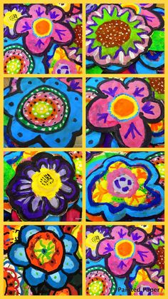 1000 images about art class latin america on pinterest for Painted paper flowers