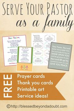 October is Pastor Month. FREE Printables and ideas to help your family bless…