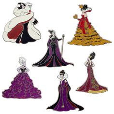 Disney Designer Dolls - Villains Pins