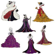 Disney Designer Dolls - Villains Pins