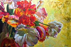 Olaf Schneider A husband, father of two and a grandfather of three acquired a strong foundational education in art while workin. Cute Paintings, Still Life Art, Canadian Artists, Olaf, Artist At Work, Flower Power, Art Pieces, Pure Products, Floral