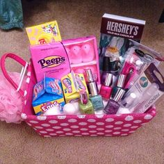 Small gift ideas for tween teen girls basket ideas easter lillis tween easter basket a different approach to easter baskets for older negle Image collections