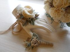Custom order for Billie 5 bouquets 7 boutonnieres 1 by PapernLace