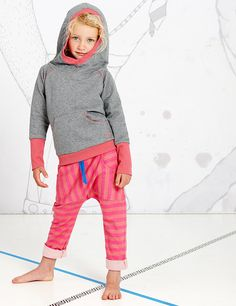 Eamy Hood Blouse grey/rose Albababy Spring Summer Collection 2015