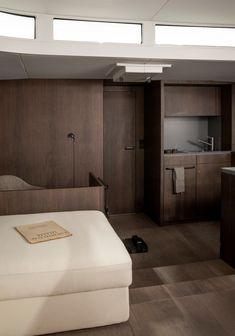 """Norm Architects have created the interior architecture for the 70 foot yacht """"Bella"""", the first of the Y/Yachts model manufactured in Greifswald by Michael Schmidt Yachtbau. Luxury Yacht Interior, Boat Interior, Luxury Yachts, Interior Design, Architect Logo, Architect House, Built In Furniture, Famous Architects, Yacht Design"""