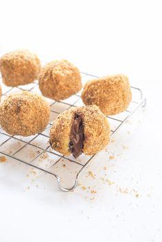 #Rezept Grießknödel mit Nougatfüllung #dessert #nougat #knödel