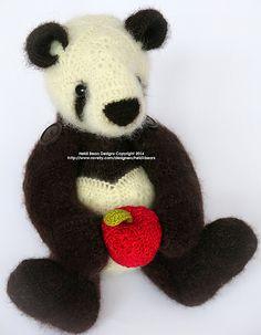 Ravelry: Ling-Ling the Panda African Flower Crochet Pattern pattern by Heidi Bears