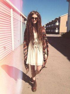 Long brown dreadlocks