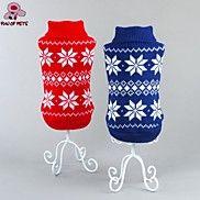 katten / honden Jassen / Truien Rood / Blauw Hondenkleding Winter Sneeuwvlok  Bruiloft / Cosplay / Kerstmis / Vakantie / Nieuwjaar – EUR € 8.81