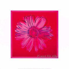Daisy, 1982 (Crimson/Pink) - Andy Warhol als Kunstdruck oder handgemaltes Gemälde. Framed Artwork, Wall Art Prints, Pop Art, Andy Warhol Flowers, Pink Home Decor, Pink Wall Art, Watercolor Paper, Find Art, Giclee Print