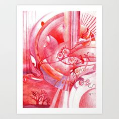 """red plains"" Art Print by Rachna Radar - $15.00"