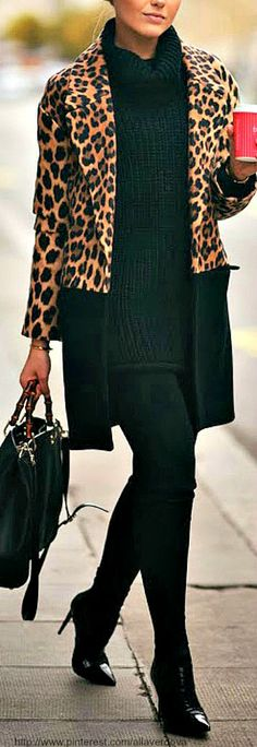 Leopard on black
