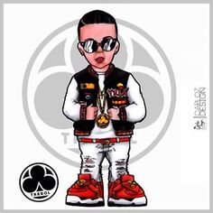#Repost @trebolclan1 with @repostapp ・・・ Gracias a @carlozDesign por la caricatura del ♣ oyó.... Pronto #LlegoLaVozBebee Daddy Yankee, Grey Ink Tattoos, Trill Art, Graffiti, Lil Pump, Dragon Ball, Mickey Mouse, Disney Characters, Fictional Characters